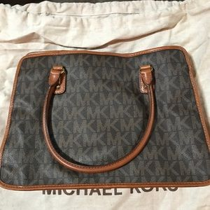 Brown + Orange Michael Kors bag